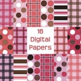 Digital Paper Pack - Neapolitan Color Scheme