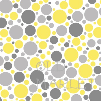 Digital Paper Pack - Neutral Baby Colors - Gray and Yellow - 16 Papers - 12 x 12