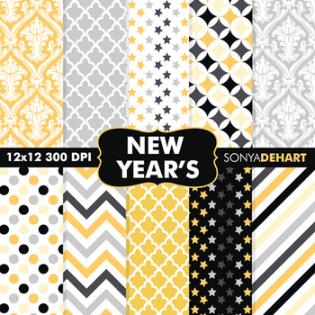 Digital Papers - New Years Eve Papers