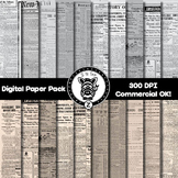 Digital Paper Pack - Newspapers Vintage/old - ZisforZebra