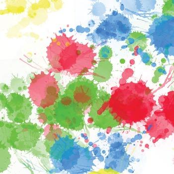 Digital Paper Pack - Paint Splat 1- ZisforZebra