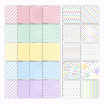 Digital Paper Pack - Pastel Color Collection - 30 Papers - 12 x 12