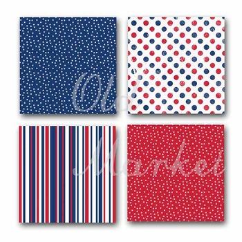 Digital Paper Pack - Patriotic - 16 Different Papers - 12 x 12
