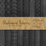 Digital Paper Pack - Patterned Chalkboard Backgrounds - 16 Papers - 12 x 12