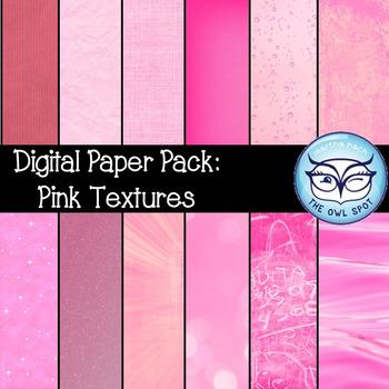 Digital Paper Pack: Pink Textures