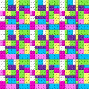 Digital Paper Pack Building Bricks Bright Colors Paper Background and Clip Art