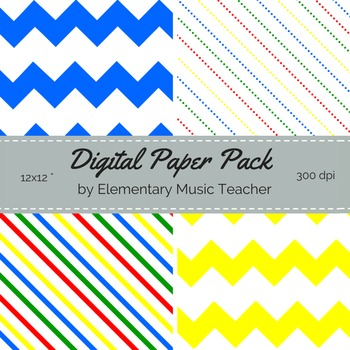 FREE Digital Paper Pack - Primary Colors