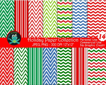 Holiday Digital Papers (Upzaz Digital Clipart)