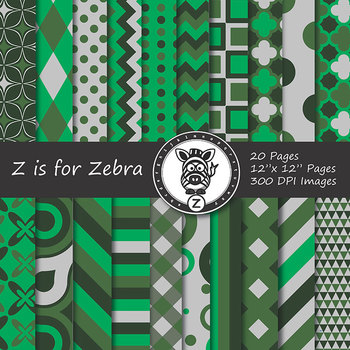 St Patricks, Green Themed Digital Paper Pack! - CU ok { Zi