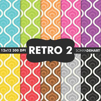Digital Papers - Retro 2