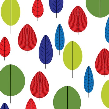 Digital Paper Pack - Retro Trees 1 - ZisforZebra