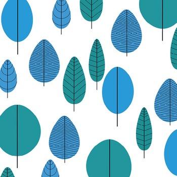 Digital Paper Pack - Retro Trees 2 - ZisforZebra