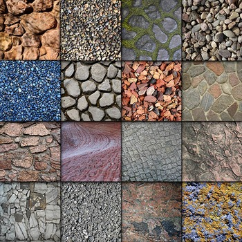 Digital Paper Pack - Rock and Stone Textures - 16 Different Papers - 12inx12in