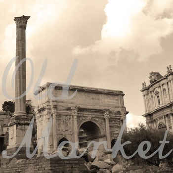 Digital Paper Pack - Rome Italy Photos - 12 Different Papers - 12inx12in