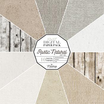 Digital Paper Pack ∣ Rustic Natural Set 02