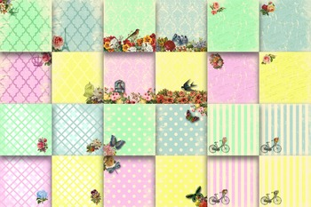 Digital Paper Pack - Sassy and Chic Digital Papers - 24 Papers - 12 x 12