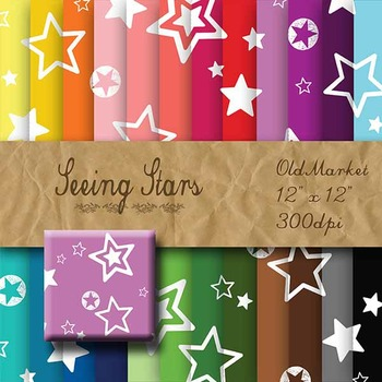 Digital Paper Pack - Seeing Stars - 24 Different Papers - 12 x 12