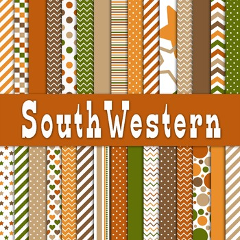 Digital Paper Pack - SouthWestern Color Collection - 30 Papers - 12 x 12