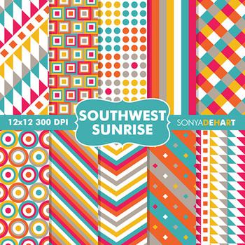 Digital Papers - Southwest Sunrise