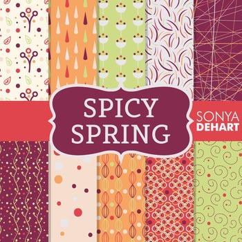 Digital Papers - Spicy Spring