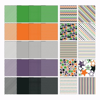 Digital Paper Pack - Spooky Halloween Colors Collection - 30 Papers - 12 x 12