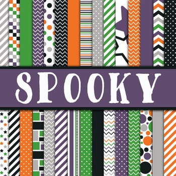 Digital Paper Pack - Spooky Halloween Colors Collection -