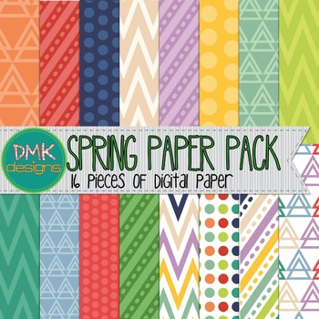 Digital Paper Pack- Spring