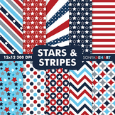 Digital Papers - Stars and Stripes