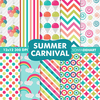 Digital Papers - Summer Carnival