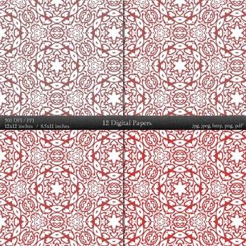 Digital Paper Pack Texture Pattern  Decoration Instant Download Vintage Lot A4