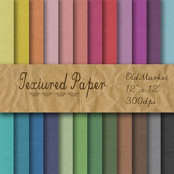 Digital Paper Pack - Textured Paper - 24 Different Papers - 12 x 12