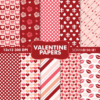 Digital Papers - Valentine's Day