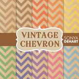 Digital Papers - Vintage Chevron