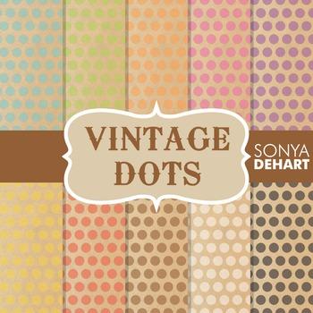 Digital Papers - Vintage Polka Dots