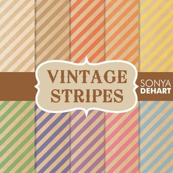 Digital Papers - Vintage Stripes