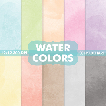 Digital Papers - Watercolors