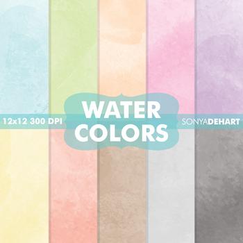 Digital Papers - Watercolors