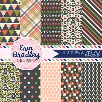 Digital Paper Pack - Wonderful Collection