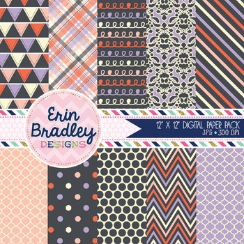 Digital Paper Pack - Wonderful Collection Purple