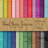 Digital Paper Pack - Wood Grain Textures - 24 Different Pa