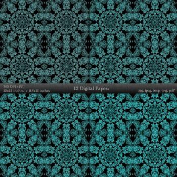 Digital Paper Page Supplie Album A4 Embellishment Layout Vintage Premade Ornate