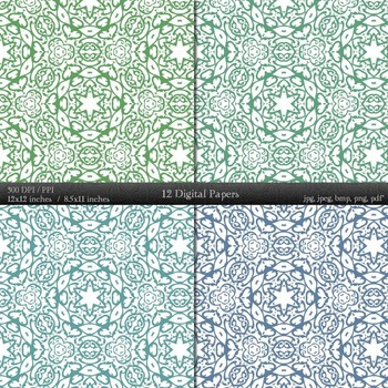Digital Paper Page Variety Paper 12x12 + 8.5x11 Inch A4 Corner Scrapbooking Art