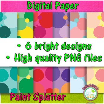 Paint Splatter Digital Paper Background