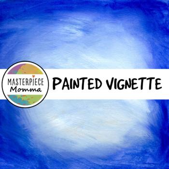 Digital Paper- Painted Vignette