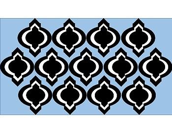 FREE Digital Paper - Pastel Blue Moroccan