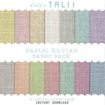 Digital Paper: Pastel Burlap