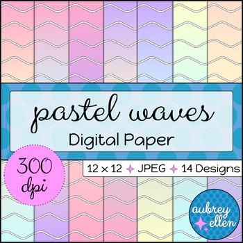 Digital Paper | Pastel Waves