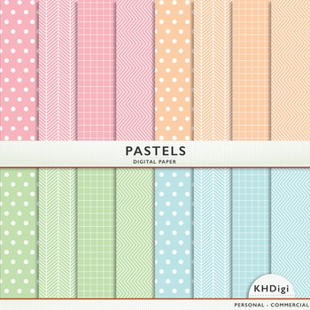 Digital Paper - Pastels