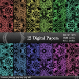 Digital Paper Pattern Instant Download Embellishment 12x12