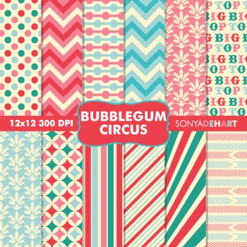 Digital Papers - Bubblegum Circus